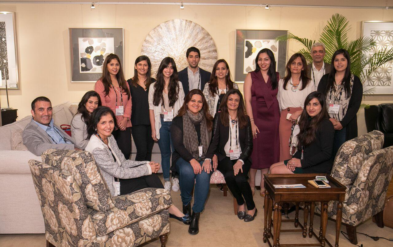 A Delegation Of Architects And Interior Designers From India Came To The High Point Market See American Furniture How It Can Be Incorporated In Their