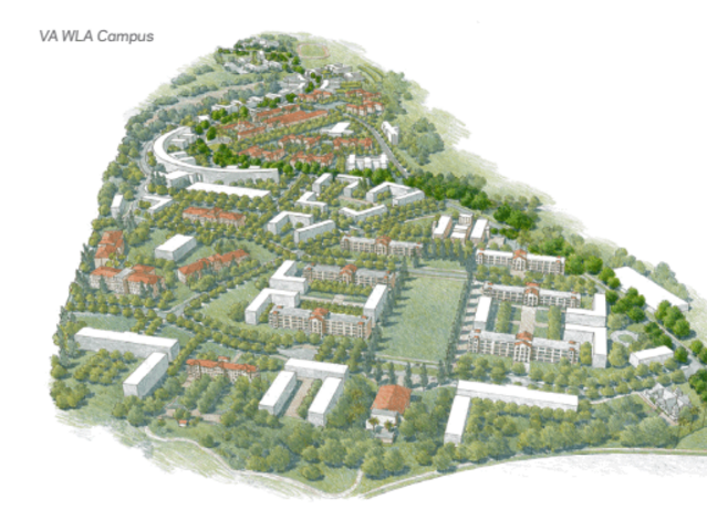 A rendering of the West LA veterans campus as proposed by the U.S. Department of Veterans Affairs.