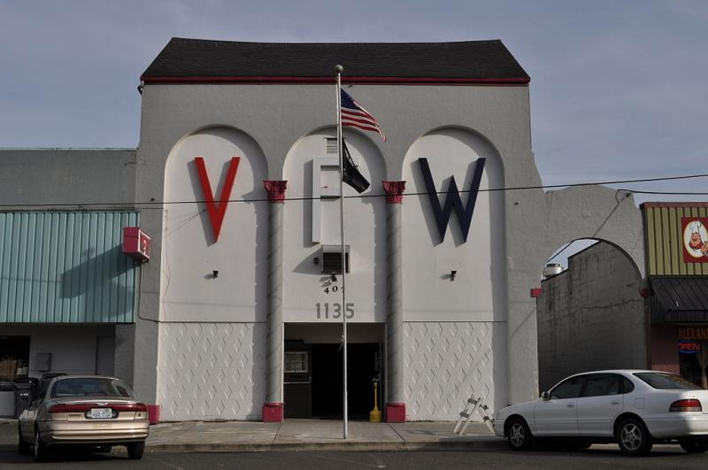 The VFW Hall in Hoquiam, Washington.