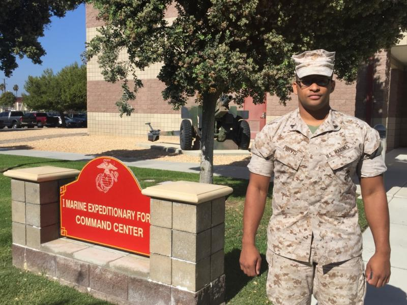 Cpl. Fabian Purvis is leaving the Marines, and he's looking to land a job with the San Diego Sheriff's Department.
