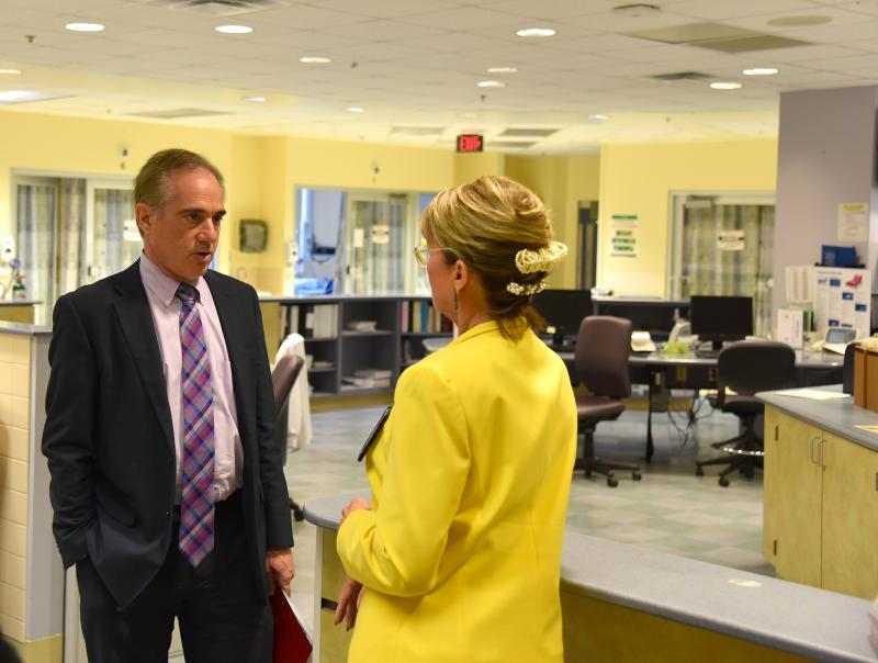 VA Secretary nominee David Shulkin tours the Cinncinati VA medical center in July 2016.