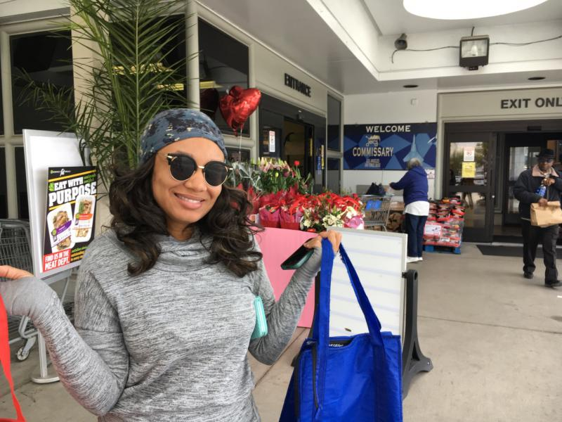 Corrita Concon shops at the commissary at the Los Angeles Air Force Base about three times a week. She estimates she saves about 30 percent compared with local supermarkets.