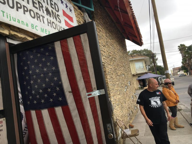 Army veteran Hector Barajas stands outside the Deported Veterans House in Tijuana. The House has a database of 350 deported veterans, but Barajas estimates the numbers could be much higher.