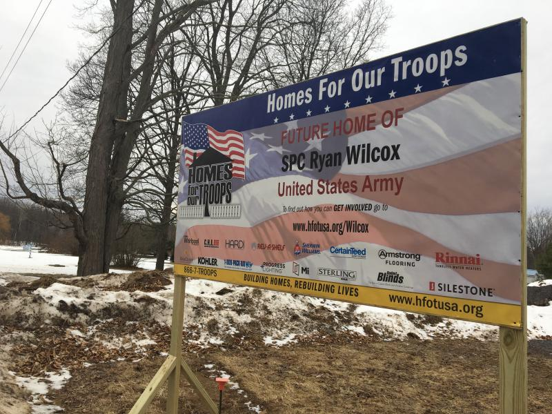 A charity called 'Homes for Our Troops' is building an accessible home for veteran Ryan Wilcox in upstate New York.