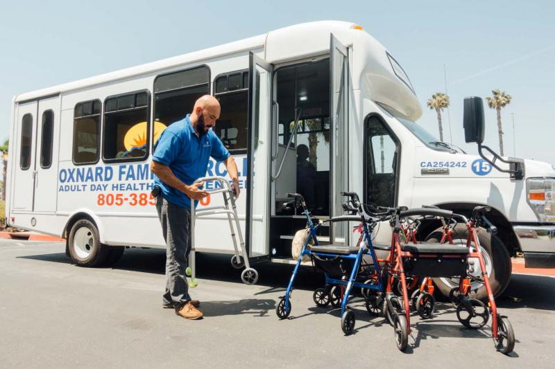 Participants in Oxnard Family Circle's Adult Day Healthcare program get transportation to and from home on weekdays.