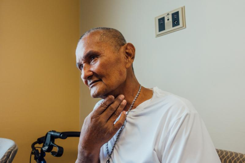 Army veteran Robert Galang participated in a clinical trial to manage the side effects of chemotherapy and radiation treatment at the Long Beach, Cal. VA.