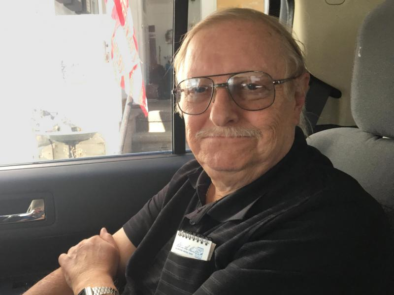 Veteran John Sherer doesn't drive and relies in part on DAV transport to access medical care.