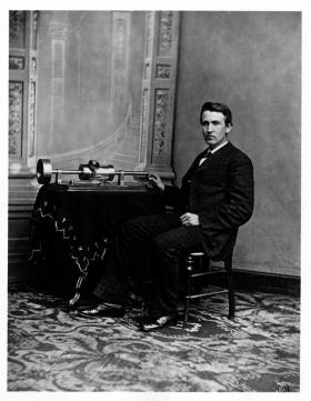 Thomas Edison in 1878, a year before he patented the incandescent bulb.