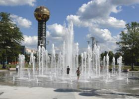 World's Fair Park in downtown Knoxville.