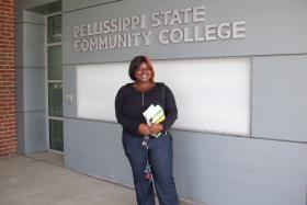 Briyana Dunn at Pelissippi State Community College, September 2012.