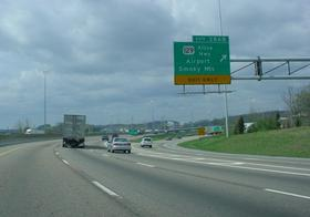 Alcoa Highway's northern terminus at I-40 in Knoxville.