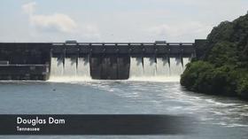 Douglas Dam spillway, July 9, 2013.