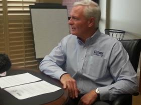 Pilot Flying J CEO Jimmy Haslam talks to reporters on Friday, April 19, 2013.
