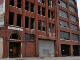 A view of the former McClung Warehouses on Jackson Avenue, downtown Knoxville.