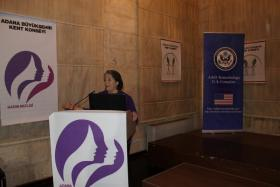 Knoxville City Mayor Madeline Rogero, speaking at the US Consulate in Adana, Turkey