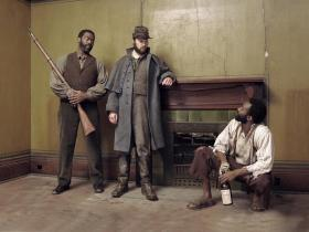 Daver Morrison, Steve Sherman and Trammell Tillman (l to r) in a publicity still for The Whipping Man.