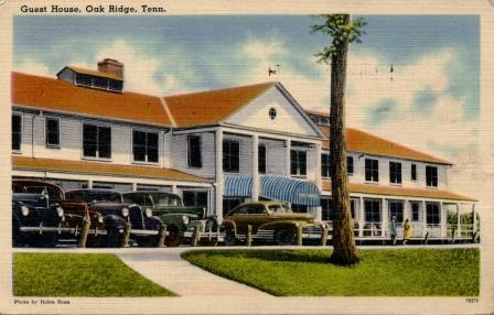 A postcard of Oak Ridge's historic Alexander Inn