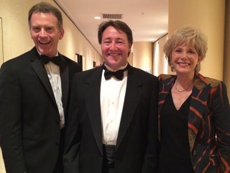 Left to Right:  NPR Morning Edition host Steve Inskeep, WUOT's Matt Shafer Powell, CBS 60 Minutes Correspondent Lesley Stahl