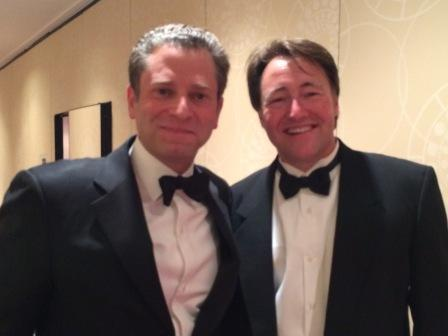 ESPN's Jeremy Schaap and WUOT's Matt Shafer Powell backstage at the 2014 Edward R. Murrow Awards