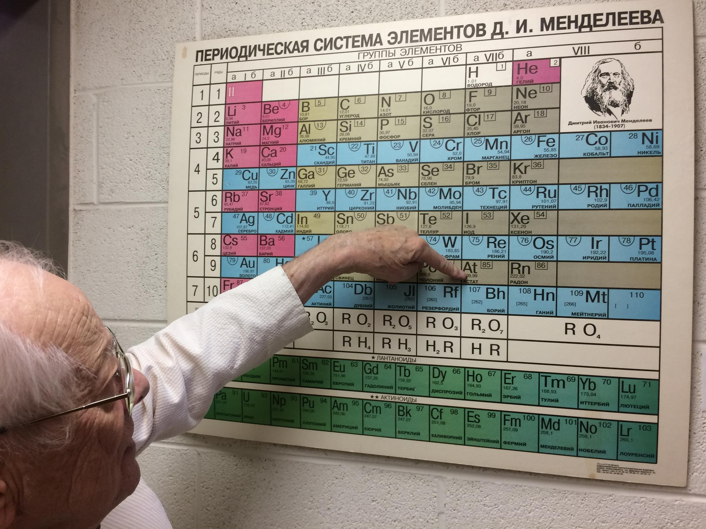 The method tennessine gets a seat at the periodic table wuot university of tennessee chemist george schweitzer points to the spot on the periodic table now occupied by tennessine the name was announced on june 8 urtaz Images