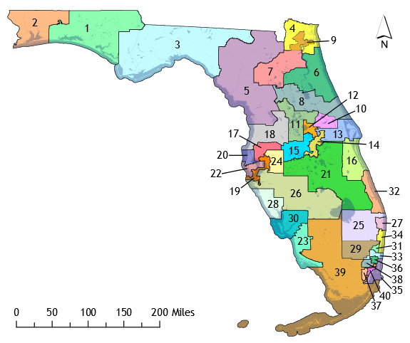 Us House Of Representatives Florida District Map - Us senate district map