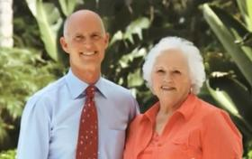 In a 2010 TV commercial, Esther Scott lauded her son Rick Scott as a