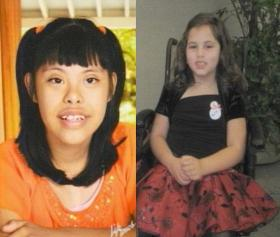 Jennifer Caballero (left) died after drowning and Isabella Herrera (right) died after choking in a school bus.