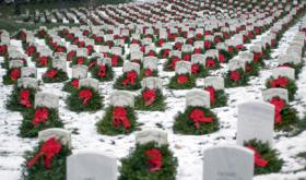 The iconic photo that launched the nationwide project Wreaths Across America.