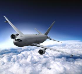 The Air Force's KC-46 tanker.