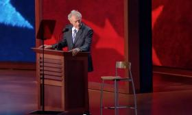 One of the most talked-about moments of the 2012 Republican National Convention was actor/director Clint Eastwood's 'interview' with an invisible Pres. Barack Obama.