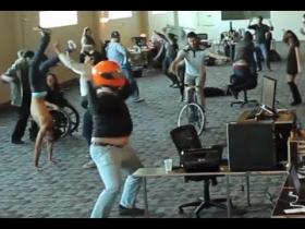 """Harlem Shake: Office Edition, one of thousands of video memes uploaded to the internet in the ""Harlem Shake"" craze."