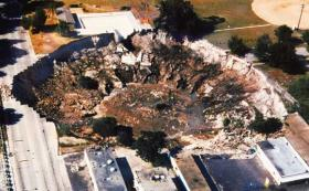 An example of a sinkhole in South Florida.