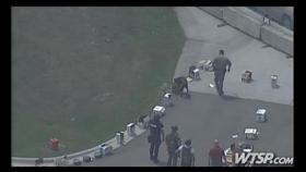 Hillsborough Sheriff's K-9 units check out a suspicious package at Terminal 3 at the Port of Tampa.