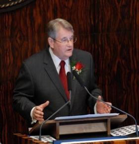Senate President Don Gaetz was happy with the compromise on teacher raises.