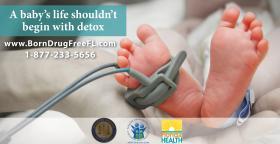 Born Drug Free Florida Campaign Poster