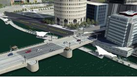 An architectural rendering the Kennedy Boulevard Plaza - gateway to downtown Tampa.