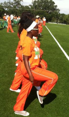Members of FAMU's Marching 100 at practice