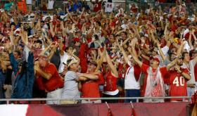 Buccaneer fans celebrate at Raymond James Stadium