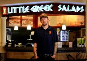 Taylor Dame, general manager of the Little Greek location at WestShore Plaza in Tampa