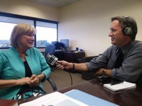 USF St. Petersburg Regional Chancellor, Dr. Sophia WIsniewksa, talks to WUSF's Mark Schreiner