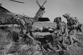 Justin Gaertner in Afghanistan.