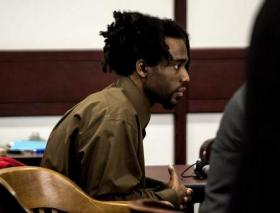 Dontae Morris sits at the defense table during his trial Friday at the Hillsborough County Courthouse.