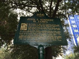 The JFK in Tampa plaque