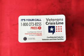A number to share with veterans, service members and their families.
