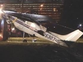 Two officers on patrol pulled a pilot from the wreckage of a small plane crash at Tampa International Airport late Thursday night
