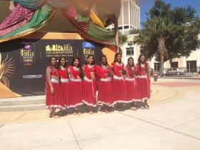 Dancers for the Desi Dhamaka dance group