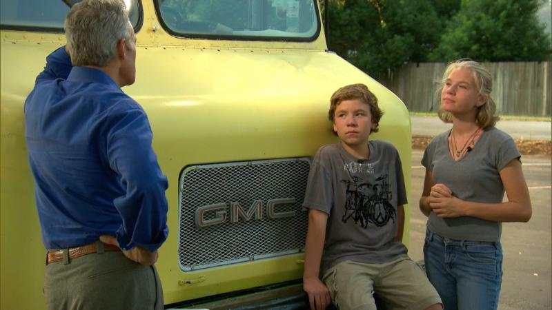 Seminole County's Austin and Arielle Metzger discuss living in a truck with '60 Minutes' Scott Pelley.