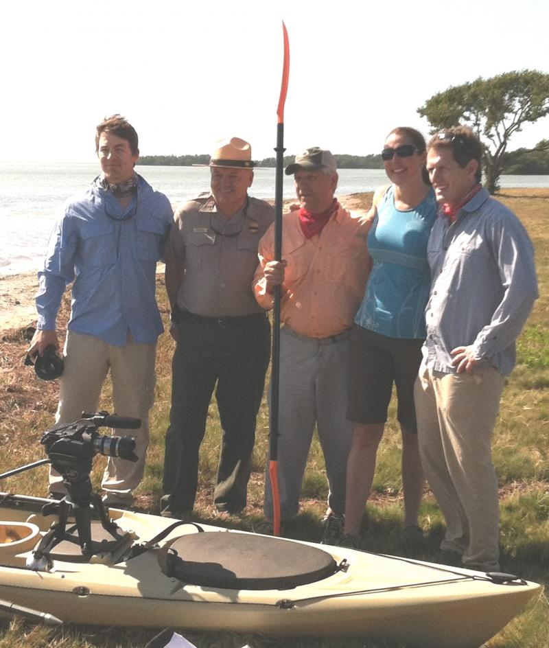 Expedition members with Everglades National Park Superintendent Dan Kimball