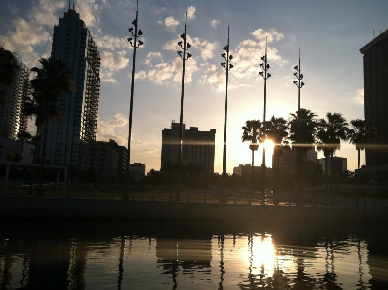 Sunrise over Curtis Hixon Park