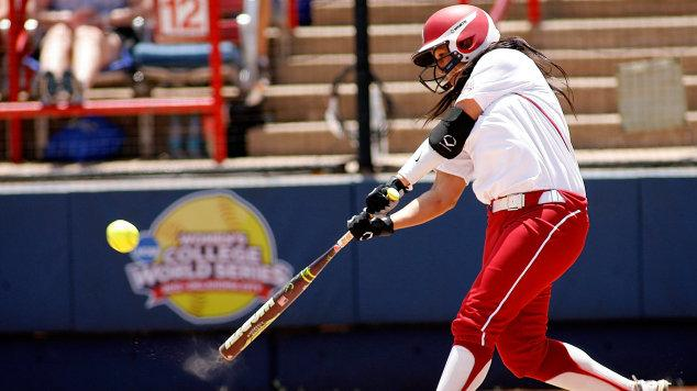 Univ. of Oklahoma freshman Lauren Chamberlain crushes her team record 28th home run of the season in the Sooners' 5-1 win over the USF Bulls.